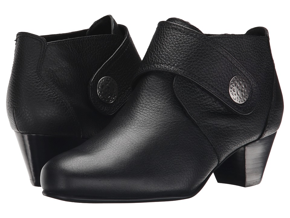 David Tate Status (Black Pebble Grain Leather) Women