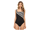 Barcode Square Neck One-Piece