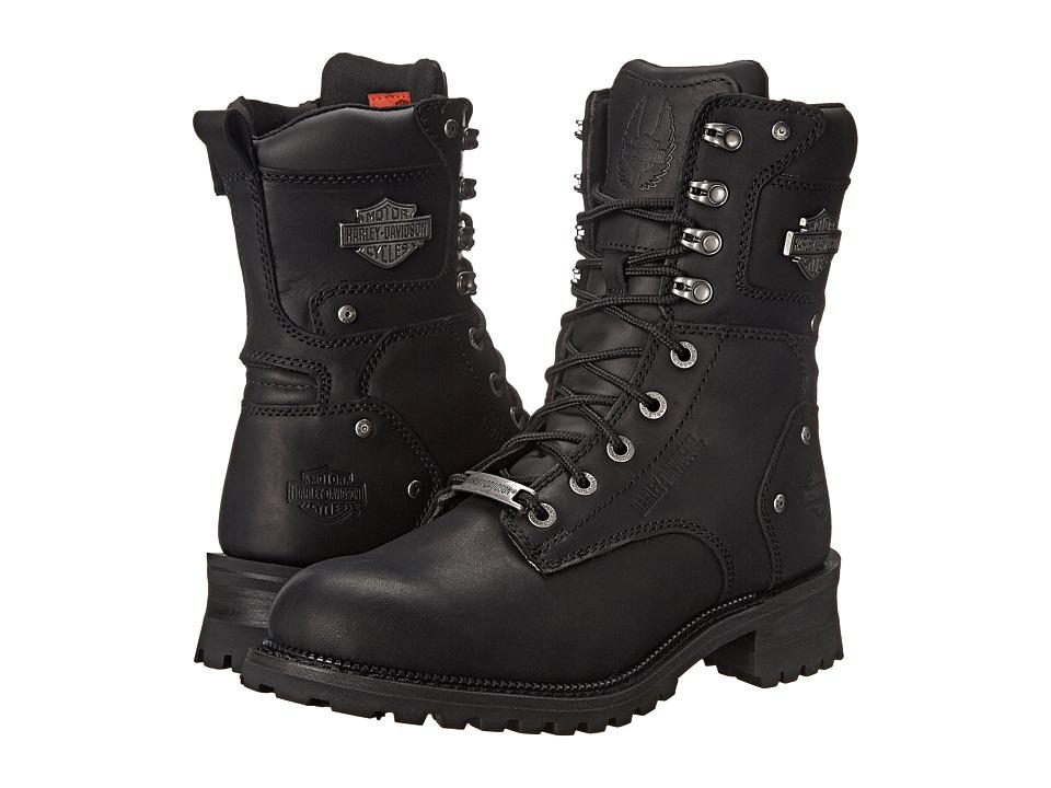 Harley Davidson Elson (Black) Men's Lace-up Boots