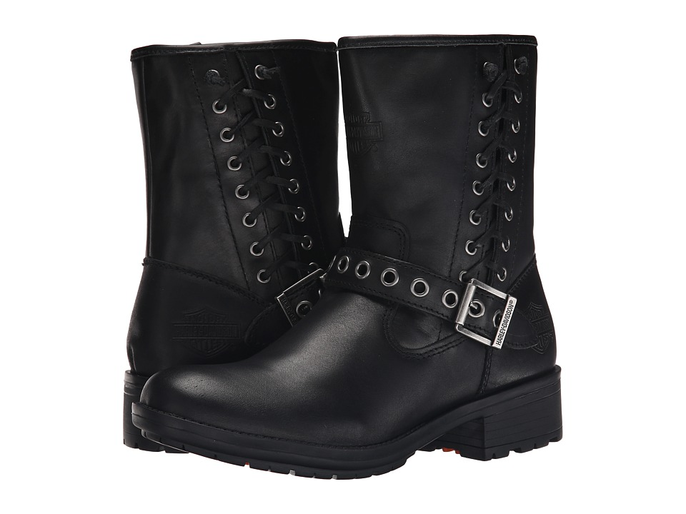 Harley Davidson Angelita Black Womens Pull on Boots