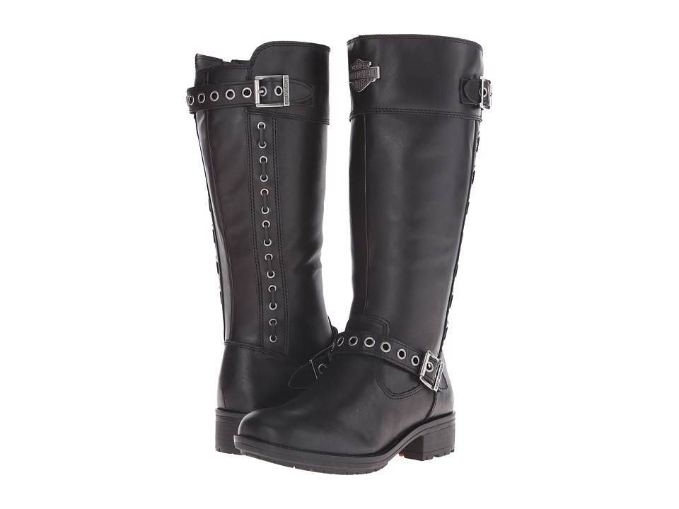 Harley Davidson Annadale Black Womens Pull on Boots