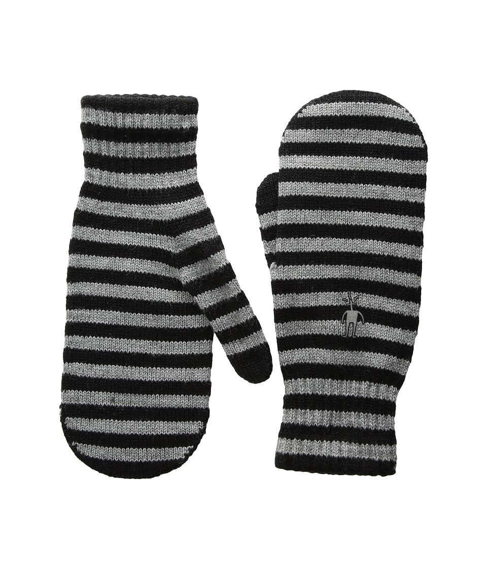Smartwool Striped Knit Mitt (Black) Over-Mits Gloves