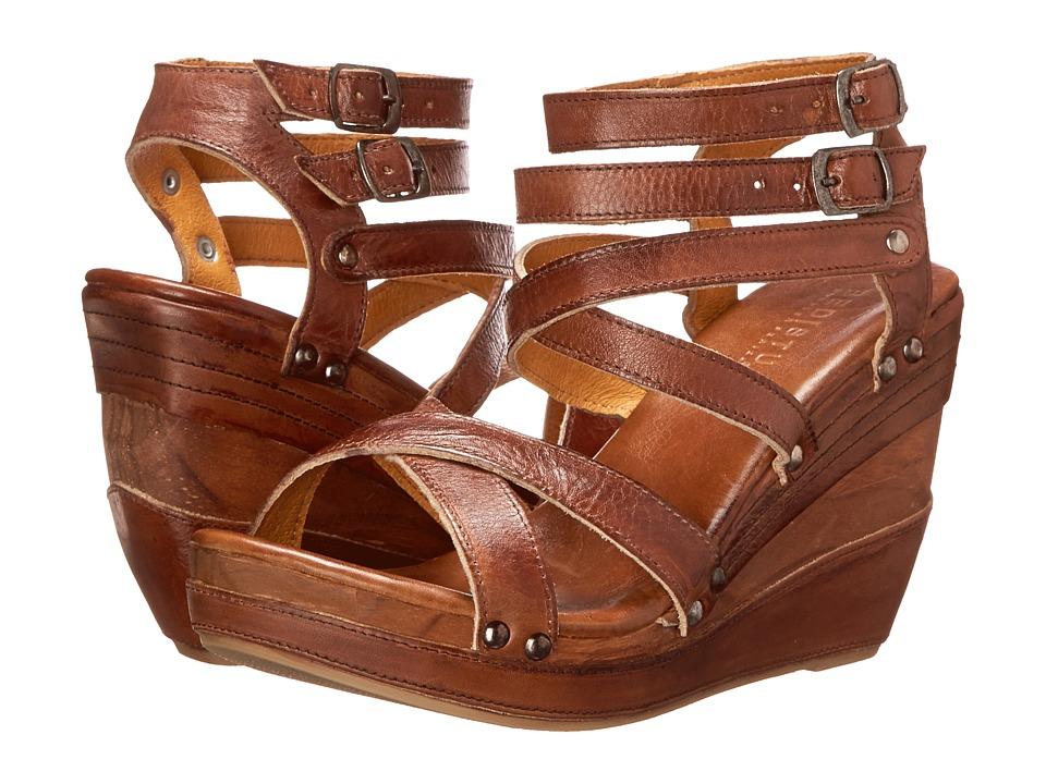 Bed Stu Juliana Tan Rustic Leather Womens Shoes