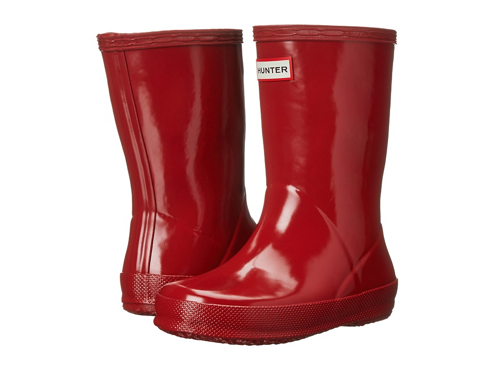 Hunter Kids - Original Kids First Classic Gloss Rain Boot (Toddler) (Military Red) Kids Shoes