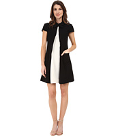 JILL JILL STUART - Cap Sleeve Two-Tone Collar Dress