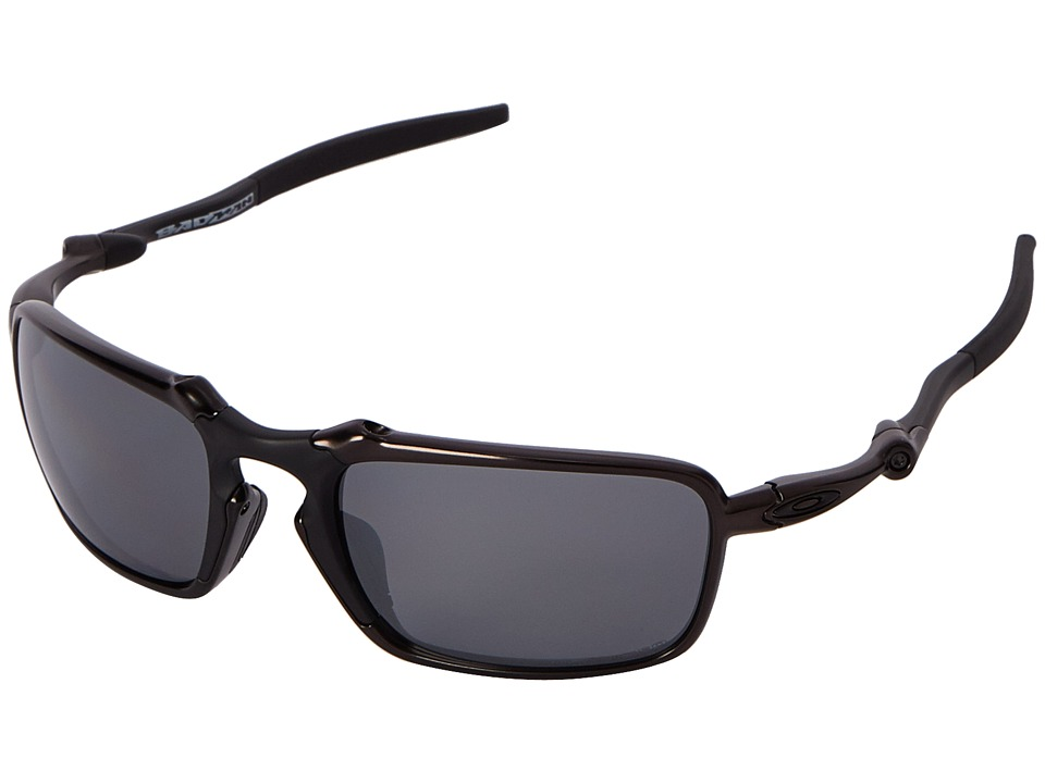 Oakley Badman Dark Carbon/Black Iridium Polarized Sport Sunglasses