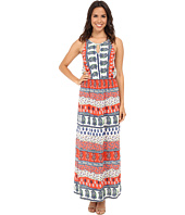 KAS New York - Annabel Printed Keyhole Maxi Dress