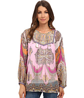 KAS New York - Dezi Printed Bell Sleeve Blouse