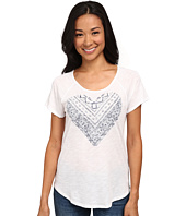 TWO by Vince Camuto - Short Sleeve Lace Heart Raglan Tee
