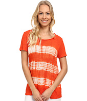 TWO by Vince Camuto - Short Sleeve Linen Jersey Linear Tie-Dye Tee
