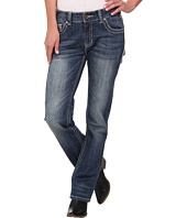 Rock and Roll Cowgirl - Boyfriend Jeans in Medium Vintage W2-2468