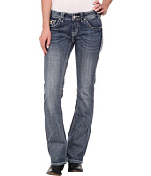 Rock and Roll Cowgirl - Low Rise Bootcut in Medium Vintage W6-2452