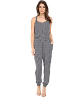 TWO by Vince Camuto - Sleeveless Rabat Flower Racerback Jumpsuit