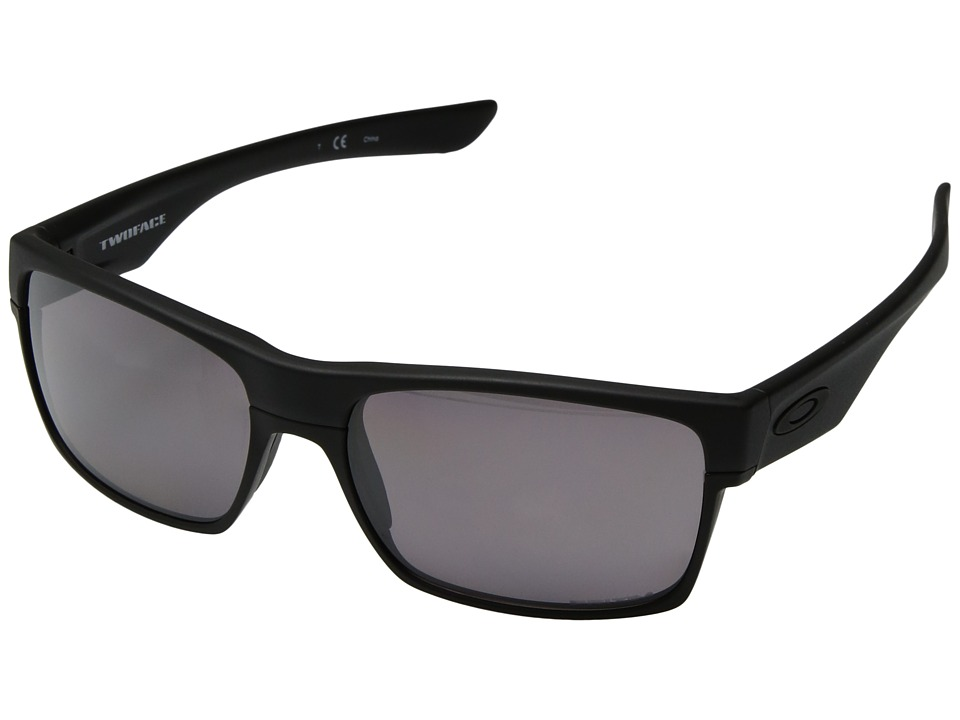 Oakley - Two Face (Matte Black/Grey Polarized) Sport Sunglasses