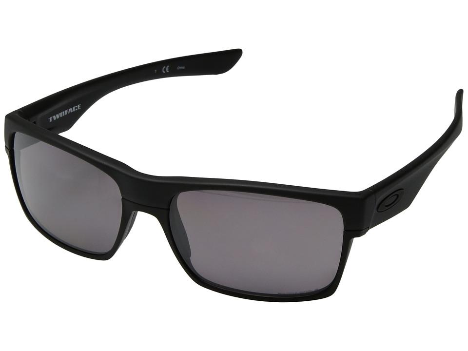 Oakley Two Face (Matte Black/Grey Polarized) Sport Sungla...