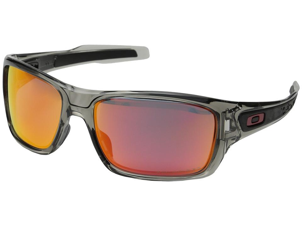 Oakley Turbine (Grey Ink/Ruby Iridium Polarized) Sport Sunglasses