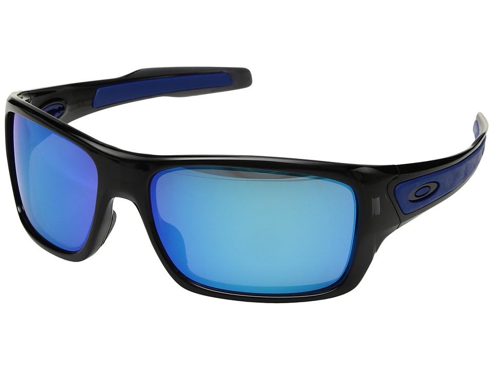 Oakley Turbine (Black Ink/Sapphire Iridium) Sport Sunglasses