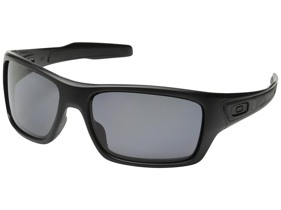 Oakley Turbine (Matte Black/Grey Polarized) Sport Sunglasses