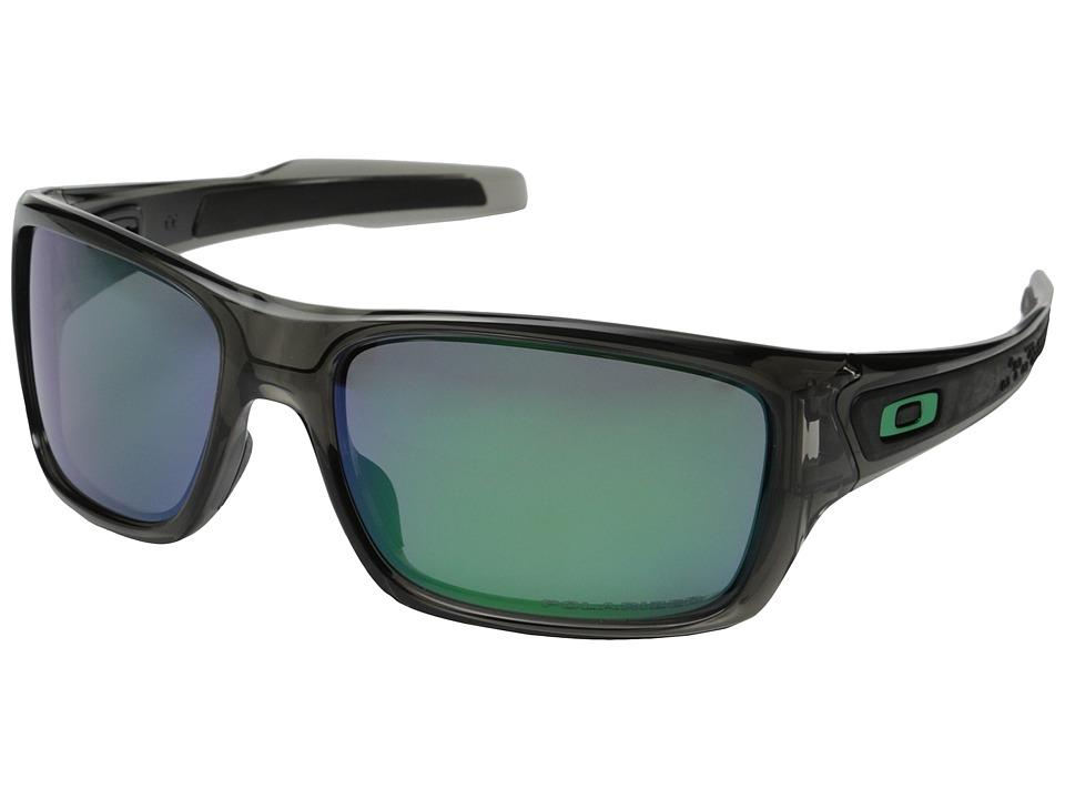Oakley Turbine (Grey Smoke/Jade Iridium Polarized) Sport Sunglasses