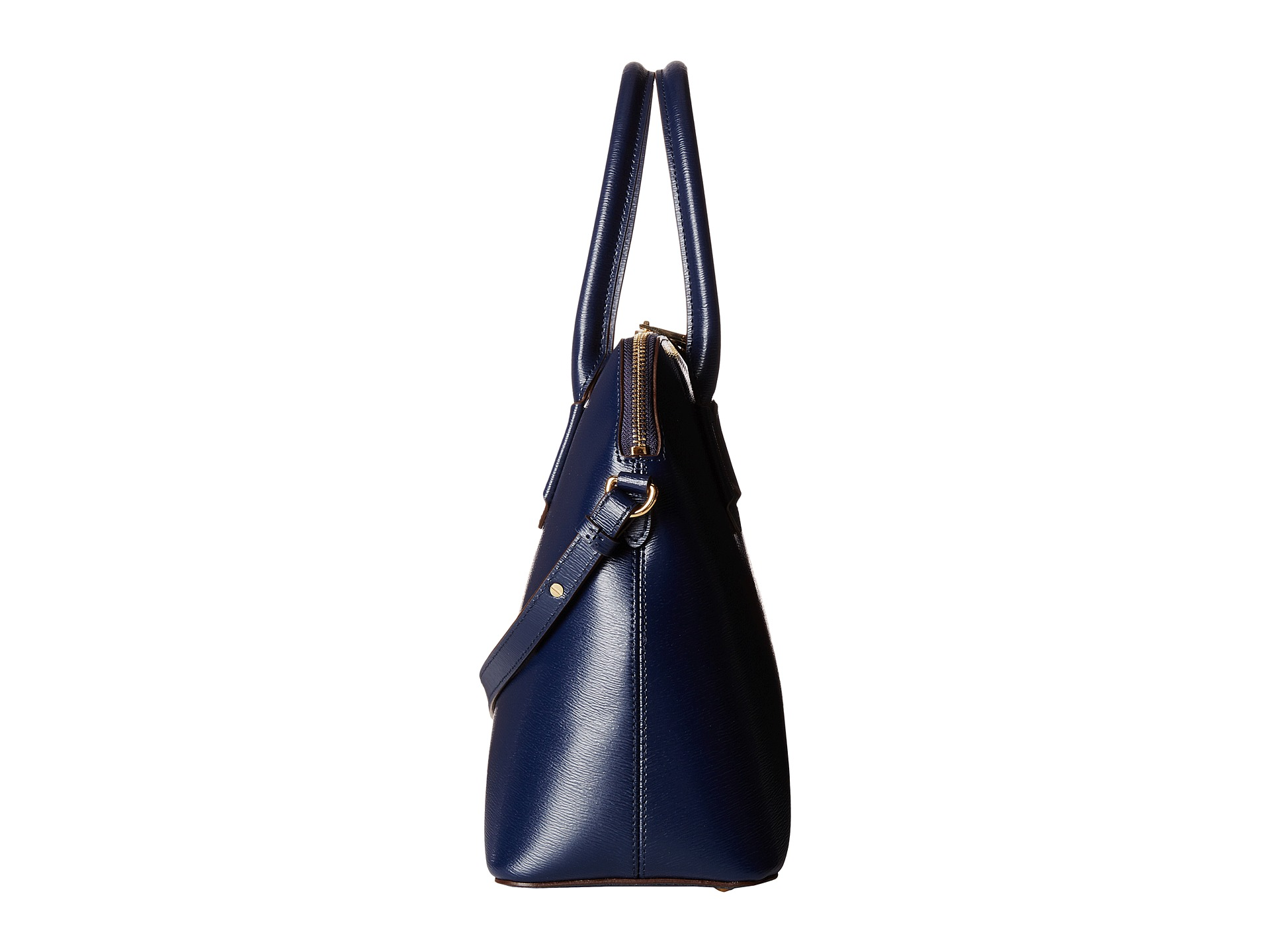 Ralph Lauren Tate Dome Satchel Laukku : Lauren by ralph tate dome satchel navy cocoa