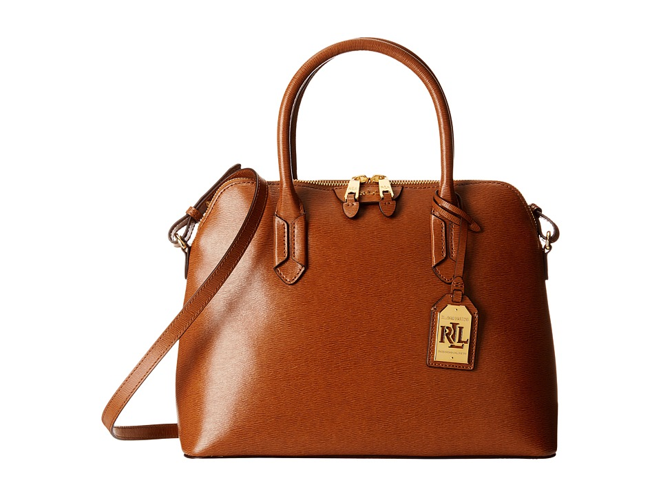 LAUREN Ralph Lauren - Tate Dome Satchel (Lauren Tan/Cocoa) Satchel Handbags