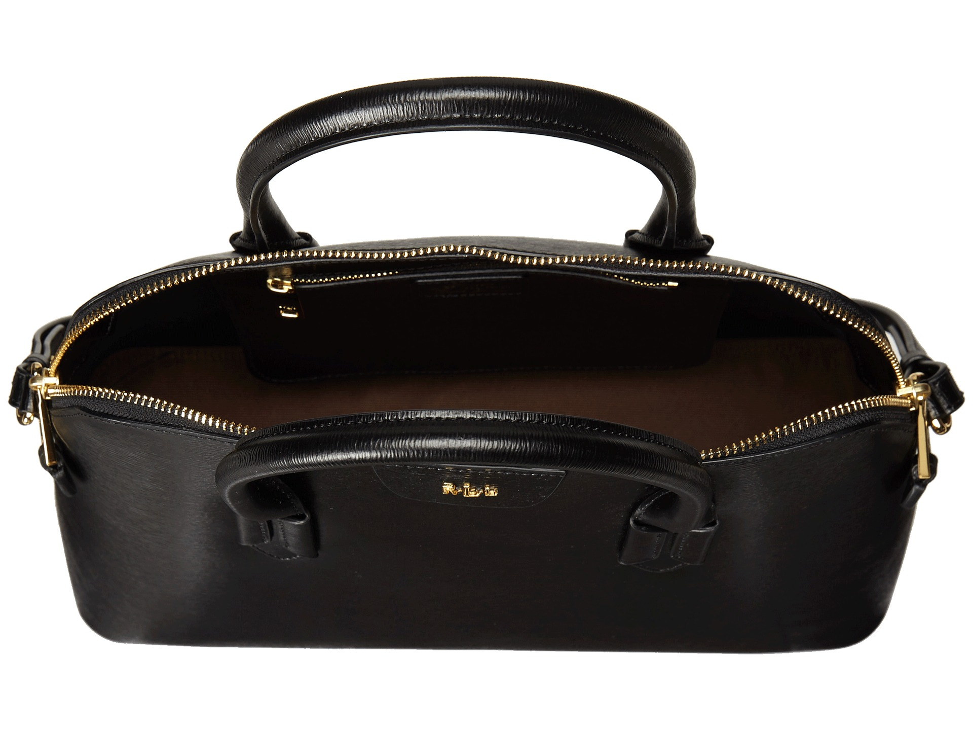 Ralph Lauren Tate Dome Satchel Laukku : Lauren by ralph tate dome satchel black gold