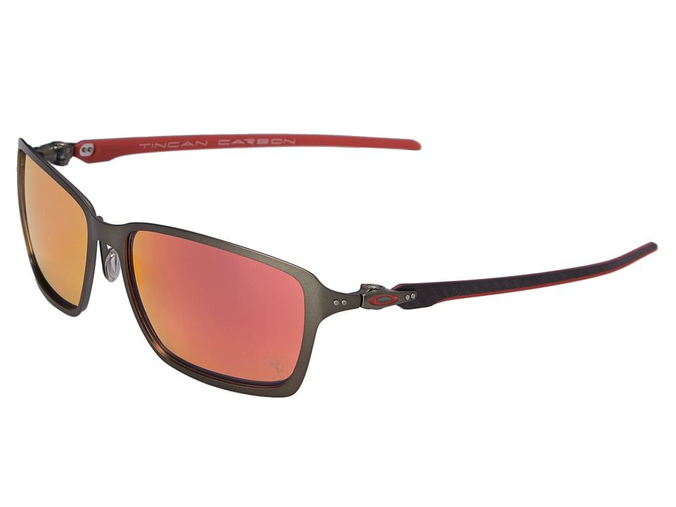 Oakley Tincan Carbon Carbon/Ruby Iridium Fashion Sunglasses