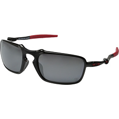 Oakley Men's Polarized Ferrari OO6020-07 Black Rectangle Sunglasses
