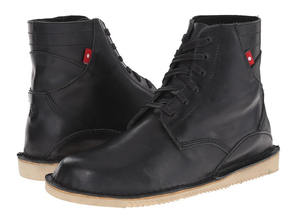 Oliberte Gando Black/Grey Pullup Mens Boots