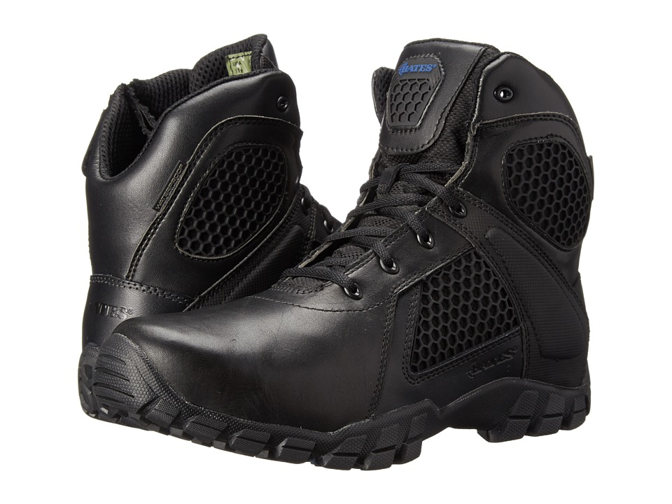 Bates Footwear 6 Strike Side Zip (Black) Men