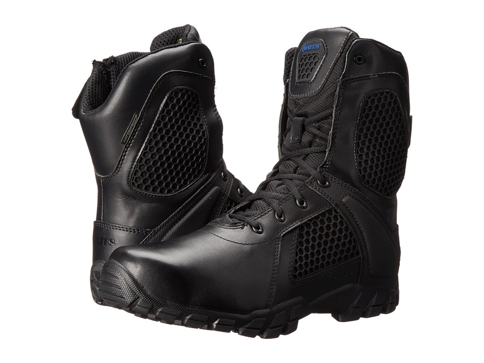 Bates Footwear 8 Strike Side Zip Black Mens Work Boots