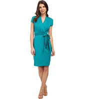 Adrianna Papell - Short Sleeve Wrap Dress
