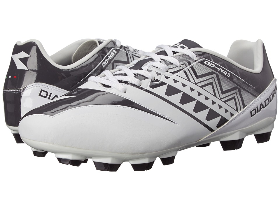 Diadora DD NA 3 R LPU White/Black Mens Soccer Shoes