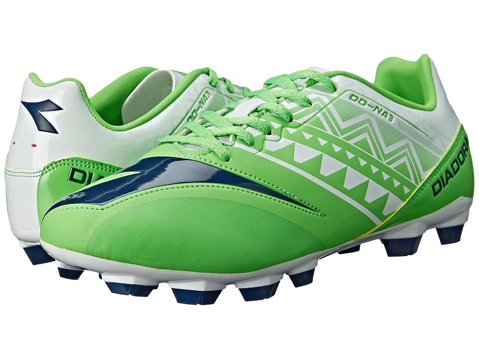 Diadora DD NA 3 R LPU Fluo Green/White Mens Soccer Shoes