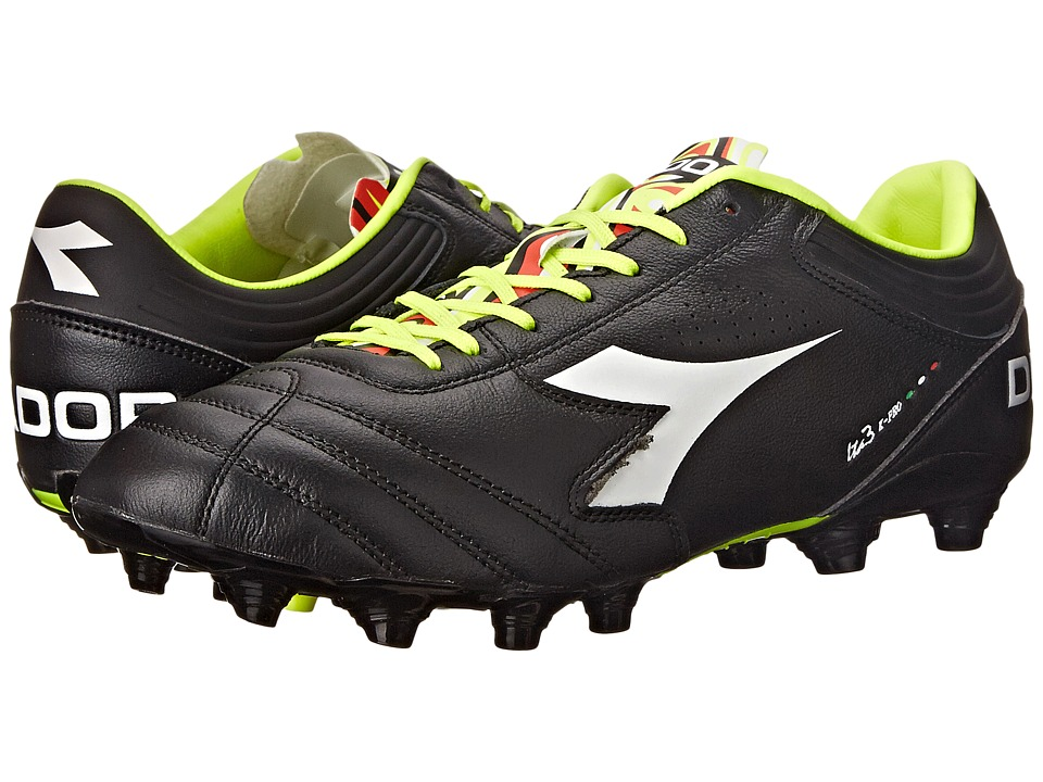 Diadora - Italica 3 K-PRO MG 14 (Black/White) Men's Soccer Shoes