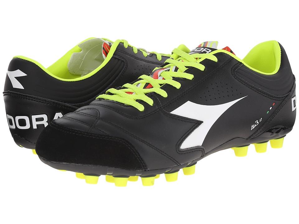 Diadora Italica 3 LT MDPU 25 Black/White Mens Soccer Shoes