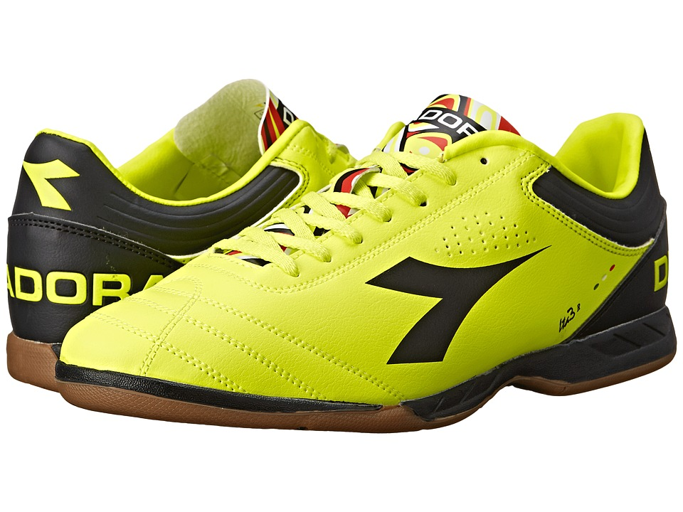 Diadora Italica 3 R ID Yellow Fluo DD/Black Mens Soccer Shoes