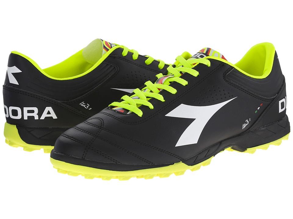 Diadora Italica 3 R TF Black/White Mens Soccer Shoes