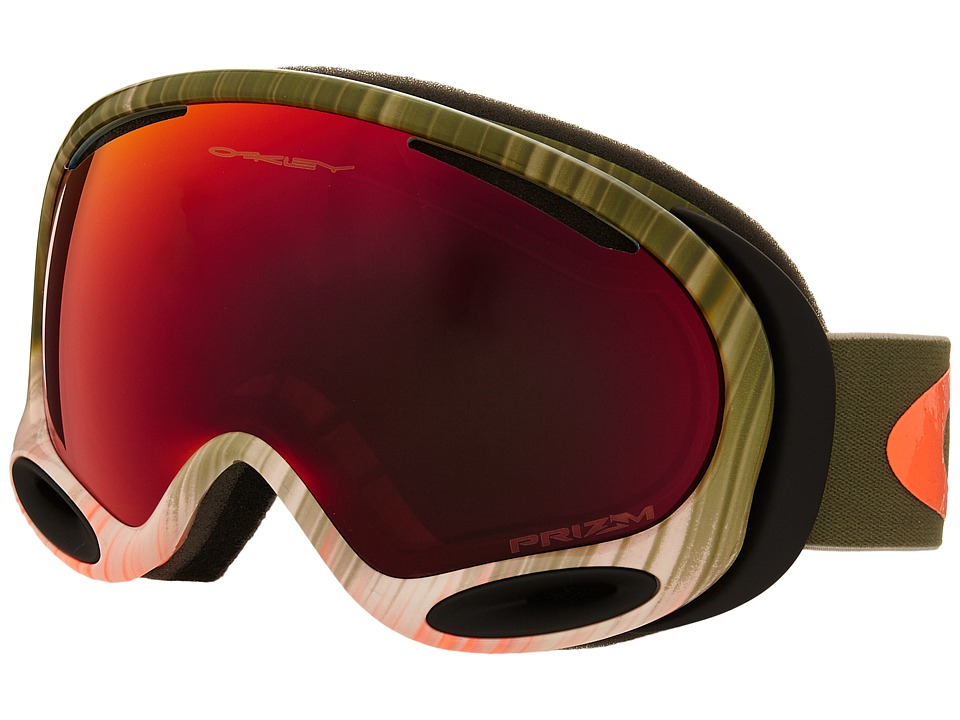Oakley A Frame 2.0 Wet Dry Olive Orange/Prizm Torch Iridium Snow Goggles
