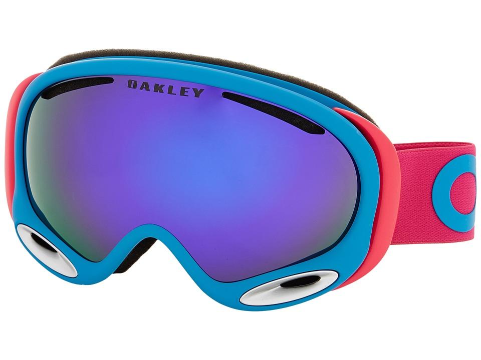 Oakley A Frame 2.0 Factory Pilot Pink/Violet Iridium Snow Goggles