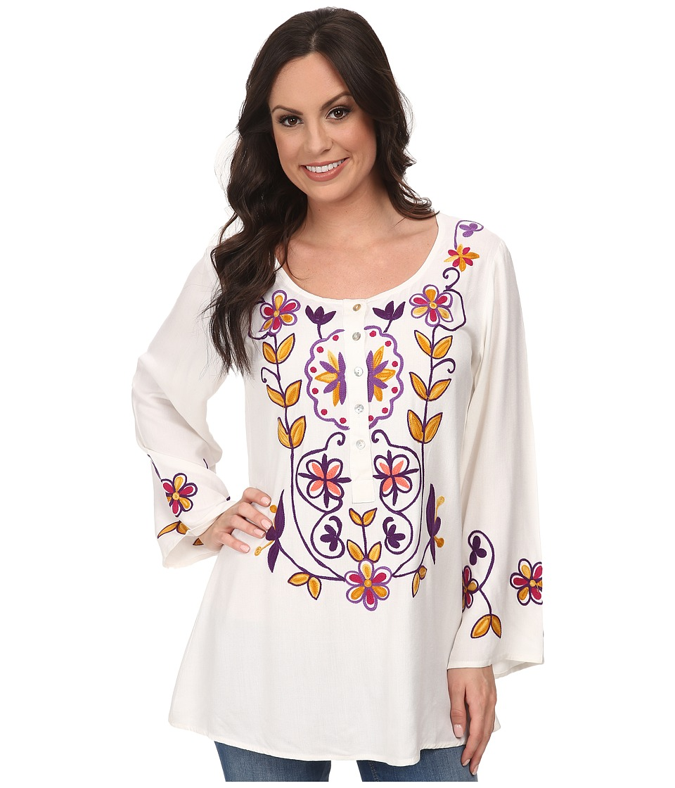 Scully - Gia Blouse White Womens Blouse $79.00 AT vintagedancer.com