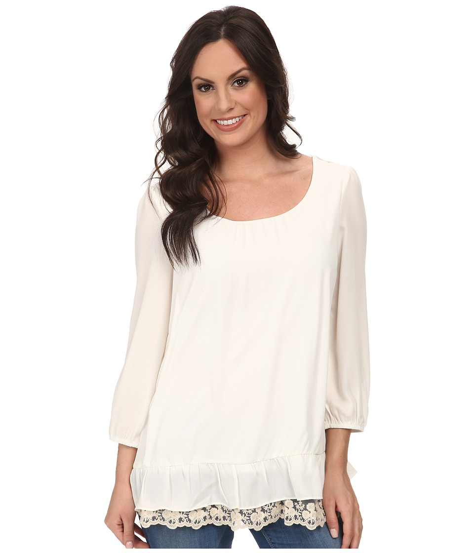 Scully - Neri Blouse Ivory Womens Blouse $59.00 AT vintagedancer.com