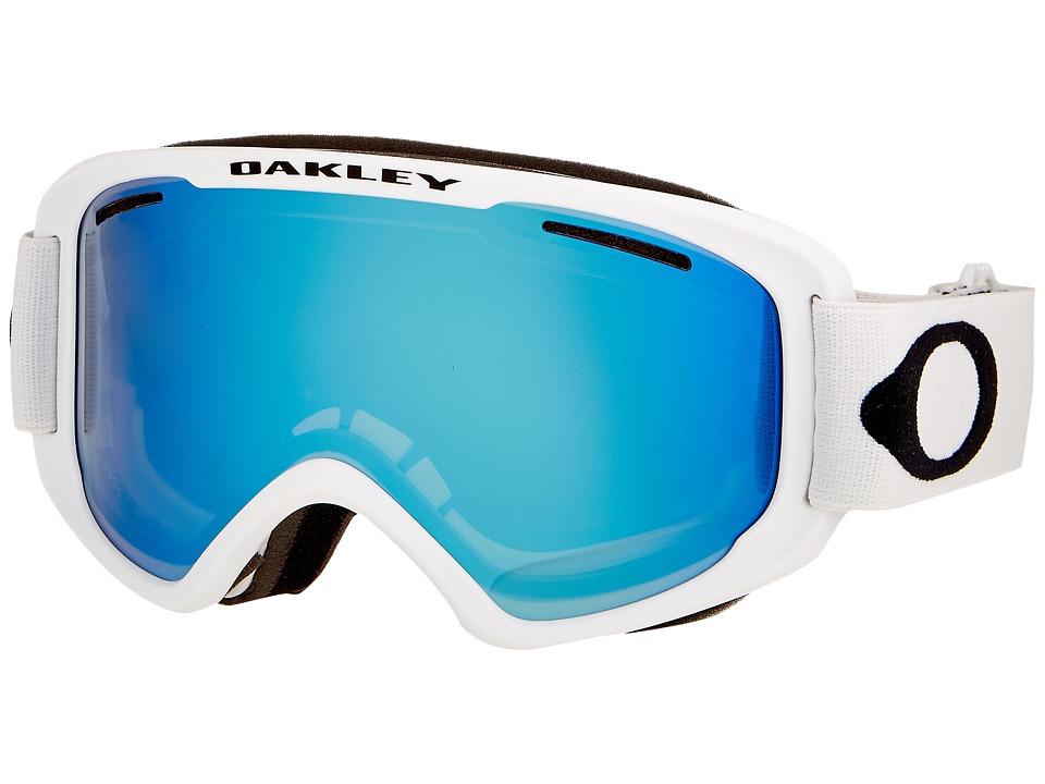 Oakley O2 XM (Matte White/Violet Iridium) Sport Sunglasses
