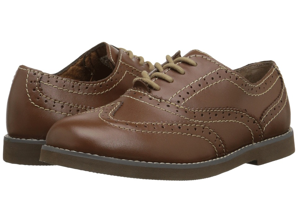 Florsheim Kids Bucktown Wingtip Slipon Jr. Toddler/Little Kid/Big Kid Cognac Boys Shoes