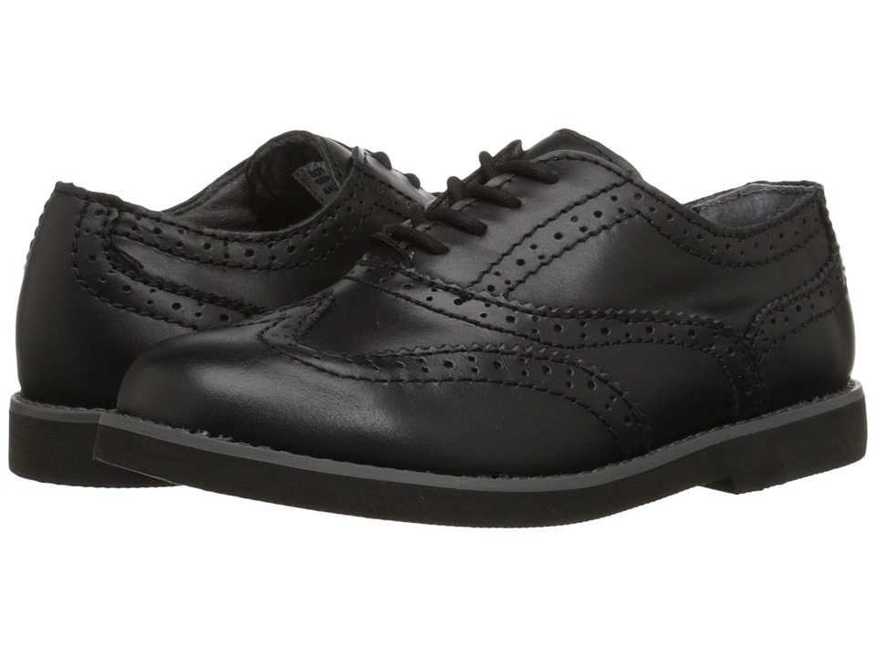 Florsheim Kids Bucktown Wingtip Slipon Jr. Toddler/Little Kid/Big Kid Black Boys Shoes