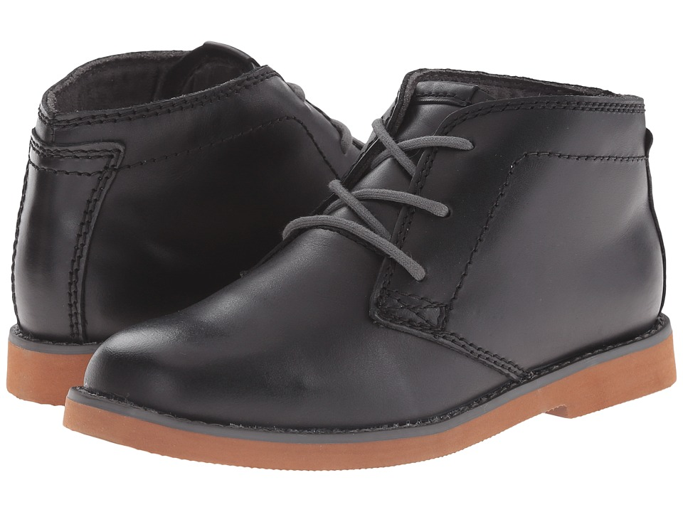 Florsheim Kids Bucktown Chukka Boot Jr. Toddler/Little Kid/Big Kid Black/Brick Sole Boys Shoes