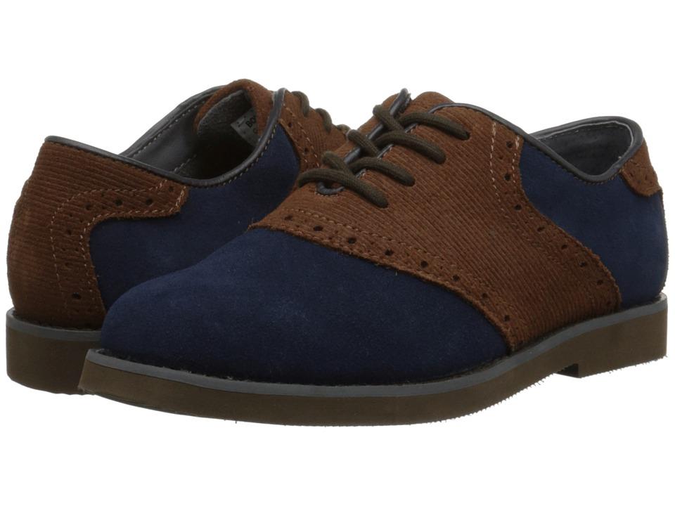 Florsheim Kids - Kennett Jr. (Toddler/Little Kid/Big Kid) (Navy Multi/Dark Brown Sole) Boys Shoes