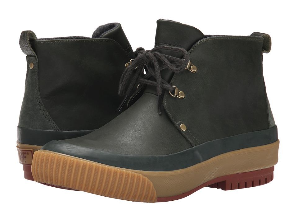 PF Flyers Hi Press Defense Green Leather/Wool Mens Boots