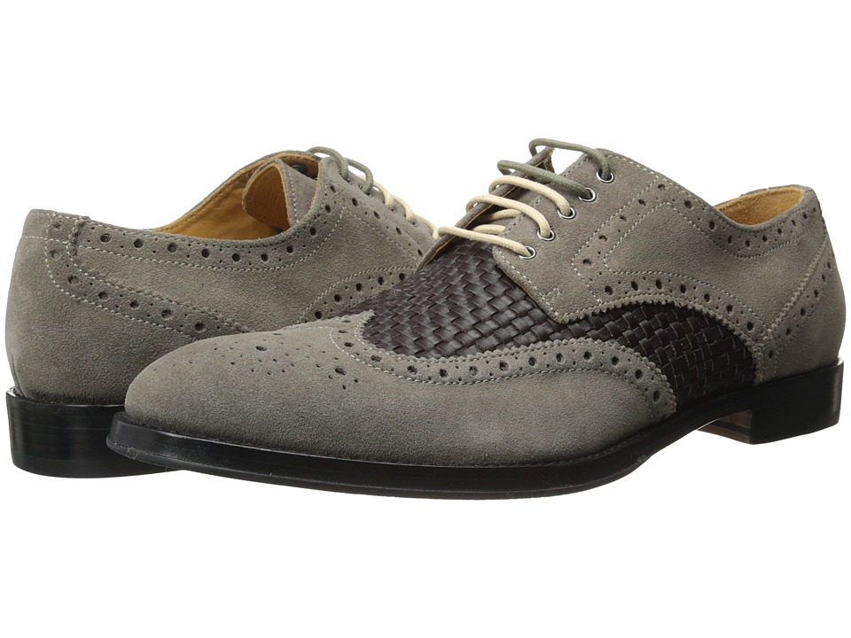 Ron White Wilton Slate Suede/Woven Calf Mens Shoes