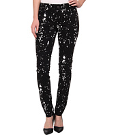 TWO by Vince Camuto - Five-Pocket Modern Splatter Skinny Jeans in Rich Black